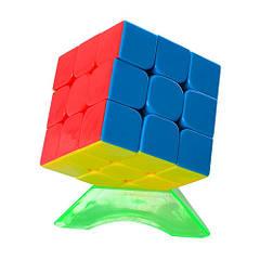 Кубик Рубіка QINGHONG 379001-A на підставці Різнобарвний