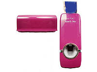 Дозатор для зубной пасты и держатель для зубной щетки Touch Me  Розовый