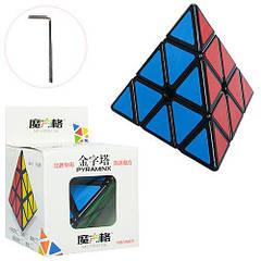 Головоломка пірамідка MOFANG GE Pyraminx black 394-12 Різнобарвний
