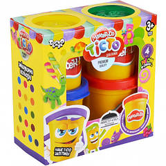 Набір креативного творчості Danko Toys Тісто для ліплення Master Do 4 банки 50г укр. 8106DT