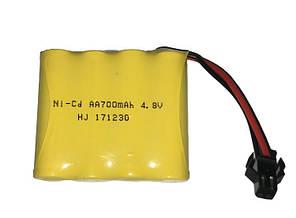 Аккумулятор Limskey Ni-Cd 4.8V 700 mAh Желтый