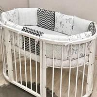 Бампер безопасности и простынь Маленькая Соня Baby Design, в ассортименте