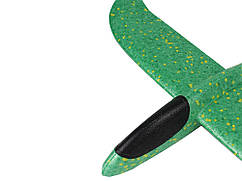 Игрушка самолет из поролона 48 см х 49 см  Зеленый