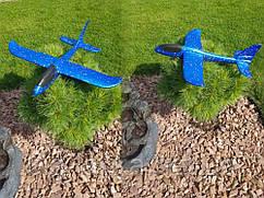 Игрушка самолет из поролона 48 см х 49 см  Синий