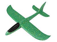 Літак планер з піни 48 см х 49 см  Зелений