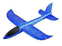 Літак планер з піни 48 см х 49 см  Синій