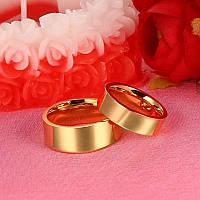 Обручальные кольца. Пара Американка 5 и 7 мм, Медицинская сталь