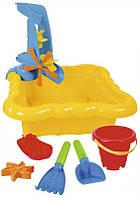 Набор для песка и воды с мельницей 7 элементов жёлтый