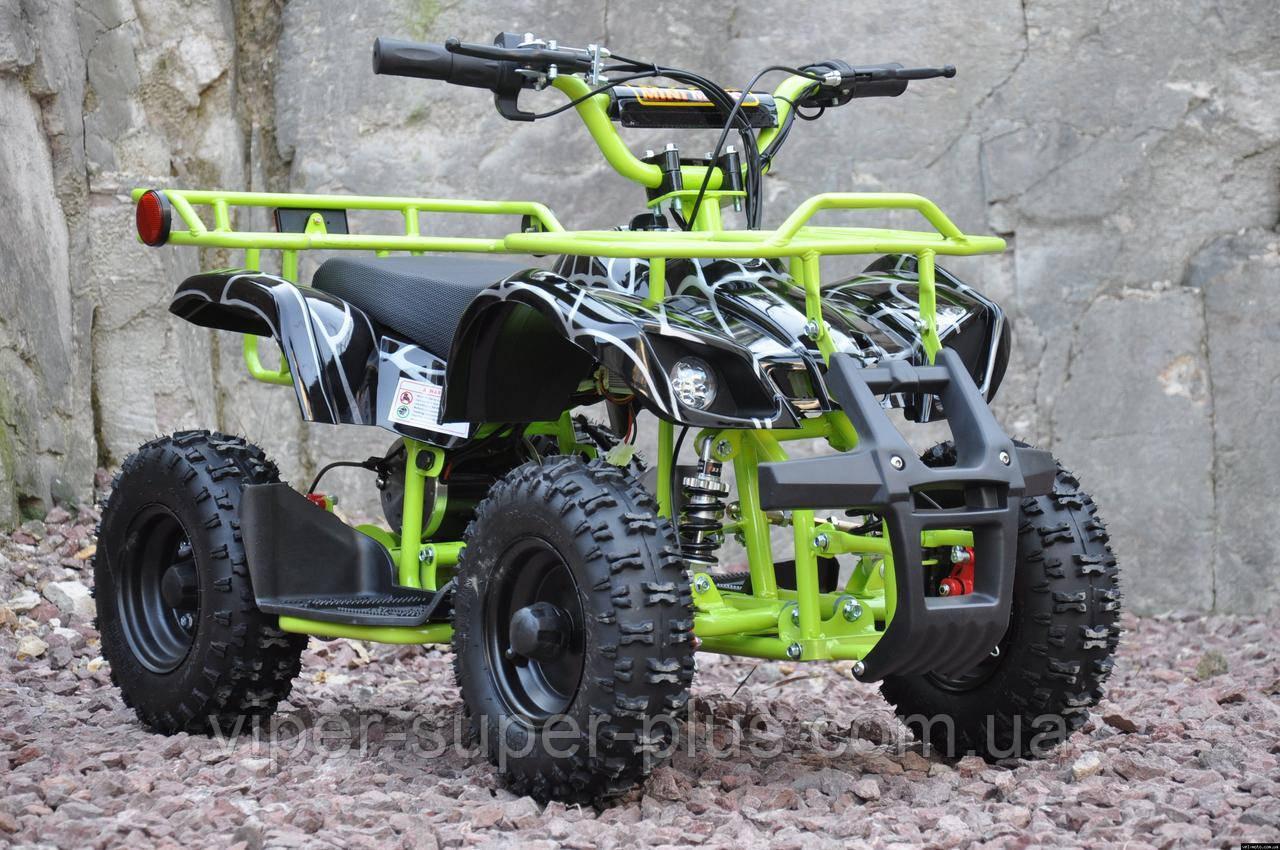 Детский электроквадроцикл Crosser eatv 90505 1000W/36V 30.0, 8.0, Новое, Электромобиль, Спереди, 12.0, да, 2, 60.0, 3.0, 36.0, да, Резина, 1.0, Квадроцикл, Пластик, Ключ зажигания, Передние фары, Салатовый