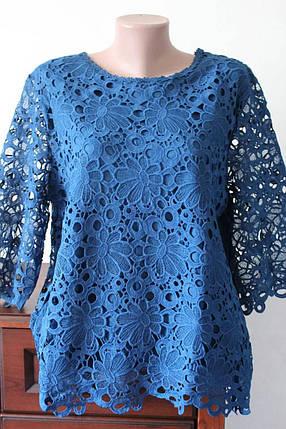 Шикарная гипюровая блуза большого размера, фото 2