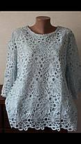 Шикарная гипюровая блуза большого размера, фото 3