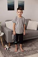 Комплект летний  футболка и капри для мальчиков  8-13 лет