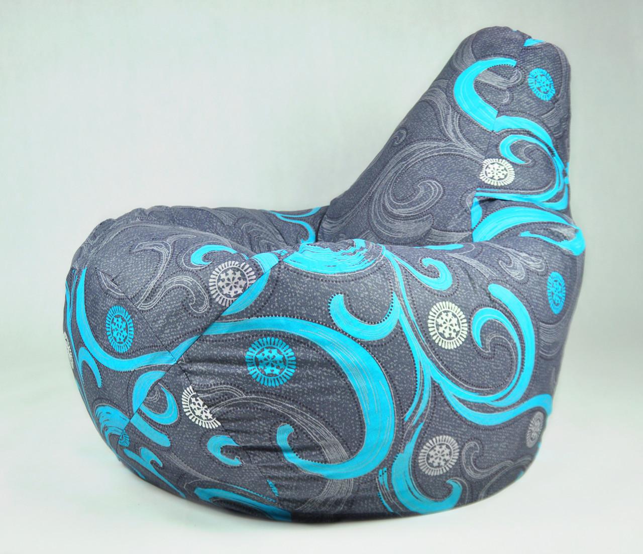 Кресло мешок с хлопковым чехлом