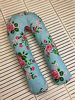 U-образная Подушка для беременных мам Розочки (поликоттон)