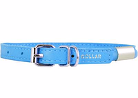 Ошейник COLLAR GLAMOUR круглый с адресником, ширина 10мм, длина 39-47см голубой 34772