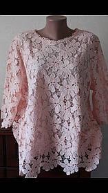 Шикарная гипюровая блуза большого размера