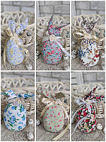 Яйце-кролик для пасхальних свят, ручної роботи, для віночка, для корзини, 14 см., 35 гр., фото 1