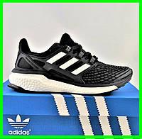 Кроссовки Adidas Energy Boost Чёрные Мужские Адидас (размеры: 42,43,44) Видео Обзор