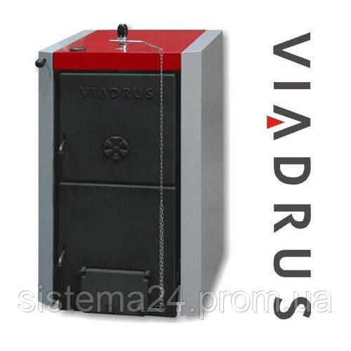 Котел твердотопливный Viadrus Нercules U22 C/D (3 секции, 18кВт) в комплекте с терморегулятором