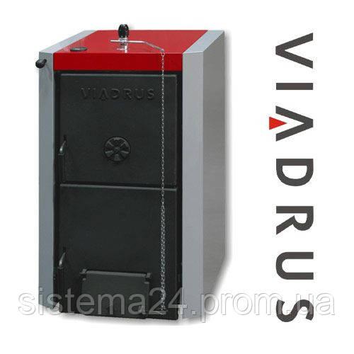 Котел твердотопливный Viadrus Нercules U22 C/D (7 секций, 40кВт) в комплекте c терморегулятором