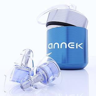 Полимерные беруши ANNEK в футляре 23 Дб Голубой (AN1033)