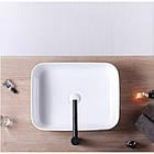 Умывальник Rea Demi Slim 40 x 50.5 см Белый (REA-U1953), фото 5
