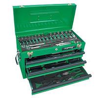 Ящик с набором инструментов для автосервиса TOPTUL 3 секции 82 ед. GCAZ0016