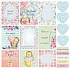 Лист с карточками, коллекция Милые колючки 30х30 см