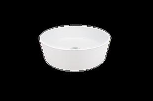 Раковина кругла зі штучного каменю Giorgio Group Charlotte 400х400х120 мм White (GG0119W1UA01)