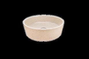 Раковина кругла зі штучного каменю Giorgio Group Charlotte 400х400х120 мм Onyx (GG0119O1UA01)