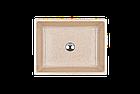 Раковина прямокутна зі штучного камню Giorgio Group Detroit 485х375х150 мм Onyx (GG0219O1UA03), фото 2