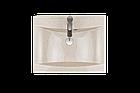 Раковина прямокутна зі штучного камню Giorgio Group Frisco 595х475х145 мм Onyx (GG0219O2UA04), фото 2