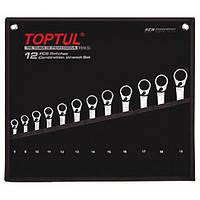 Набор ключей трещоточных реверсивных TOPTUL 8-19мм в чехле 12ед. GPAQ1203