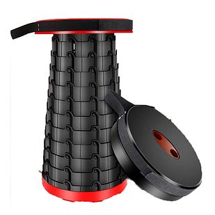 Складной стул Черно-красный (hub_Repj35753)