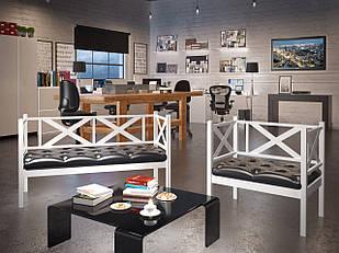 Комплект: крісло/диван Tenero Грін Трик лофт Білий (100000230)
