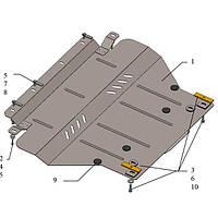 Защита картера двигателя Kolchuga для Citroen C5 2008- с алюминиевым подрамником ZiPoFlex (2.0304.00)