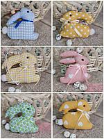 Кролик пасхальний декоративний, для віночка, для корзини, підвіска, прикраса, 9х9см., 45/39(ціна за1шт+6гр), фото 1