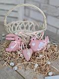 """Набір пасхальний """"Кролик, курочка, сердечко"""", для віночка, для корзини, для декора, 115/95 (ціна за1шт+20гр), фото 3"""