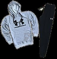Трикотажный спортивный костюм Under Armour (premium-class) черный с черным