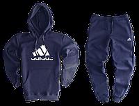 Трикотажный спортивный костюм adidas (premium-class) темно-синий