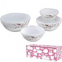 Набор емкостей для хранения продуктов 4шт Японская вишня Snt 30054-61122 + Бонус