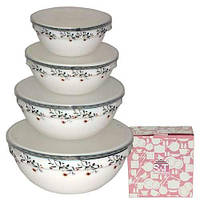 Набор емкостей для хранения продуктов с крышкой 4 шт. Мильфлер Snt 30054-15023 + Бонус