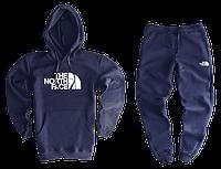 Трикотажный спортивный костюм The North Face (premium-class) темно-синий