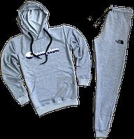 Трикотажный спортивный костюм Champion (premium-class) серый