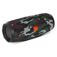 Портативная колонка блютуз MP3 плеер MHZ E3 CHARGE3 waterproof водонепроницаемая Power Bank Camo