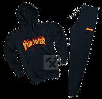 Трикотажный спортивный костюм Thrasher (premium-class) черный