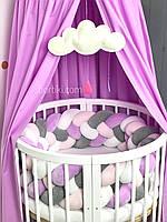 Комплект в детскую кроватку бортик-косичка