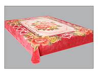 Плед акриловый Букет розовый 324-1
