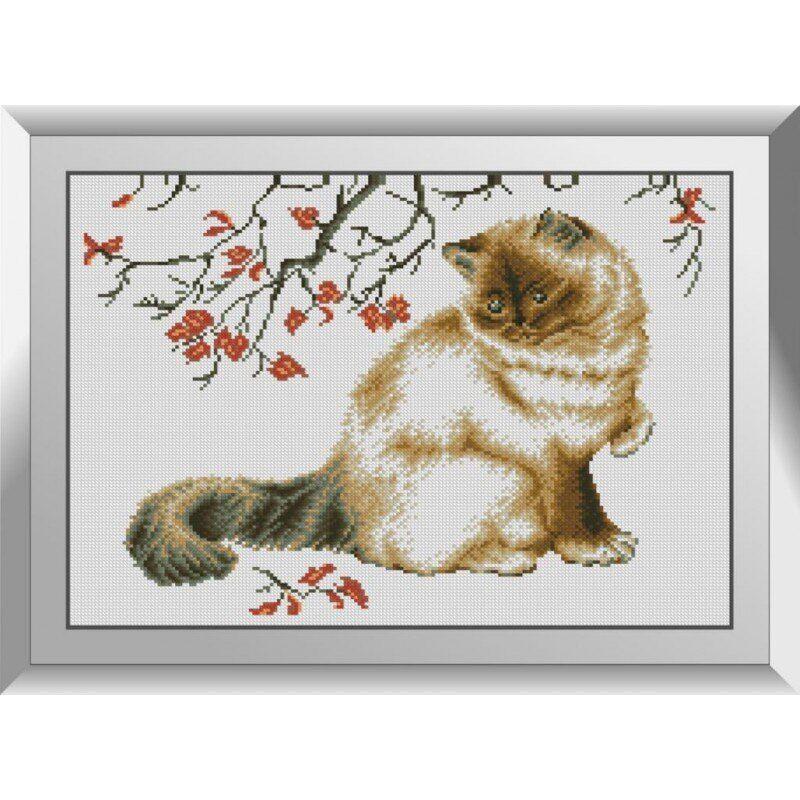 31086 Осенний кот Набор алмазной живописи