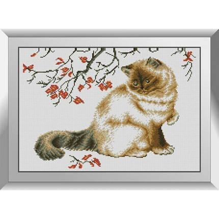 31086 Осенний кот Набор алмазной живописи, фото 2